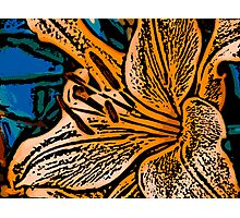 Show Off - Woodcut Photographic Print