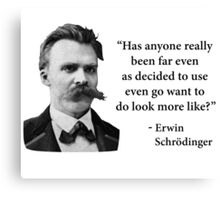 Friedrich Nietzsche Troll Quote Canvas Print