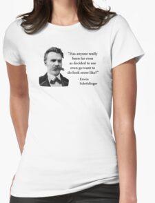 Friedrich Nietzsche Troll Quote Womens Fitted T-Shirt
