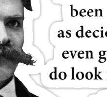 Friedrich Nietzsche Troll Quote Sticker