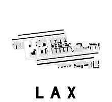 Los Angeles Airport Diagram Photographic Print