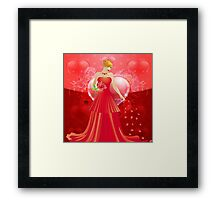 Lady in red dress 4 Framed Print