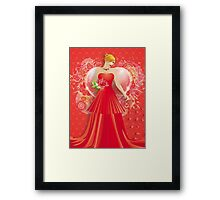 Lady in red dress 6 Framed Print