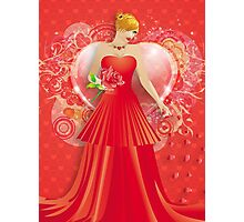 Lady in red dress 6 Photographic Print