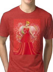 Lady in red dress 6 Tri-blend T-Shirt