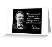 Friedrich Nietzsche Troll Quote Greeting Card