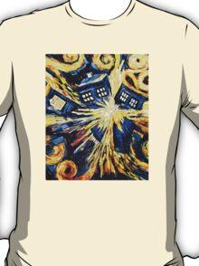 Tardis by Van Gogh - Doctor Who T-Shirt