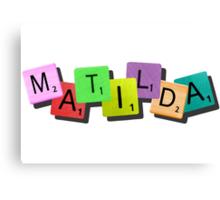 Matilda the Musical {tile logo} Canvas Print