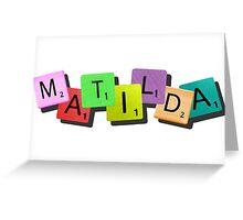 Matilda the Musical {tile logo} Greeting Card