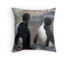 Synchronized Scratching Throw Pillow