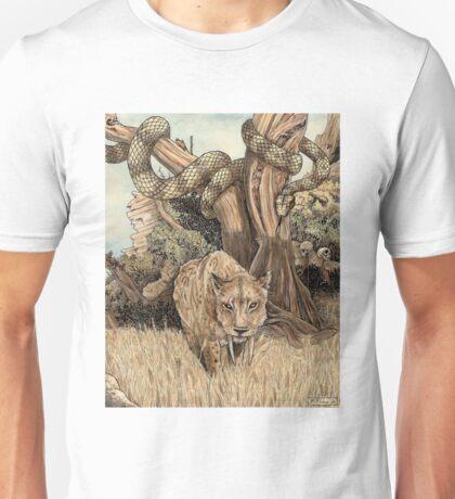 Smilodon & Titanoboa Unisex T-Shirt