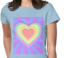 Paper hearts Womens Fitted T-Shirt