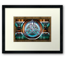 Shield Celtic Triquetra Framed Print