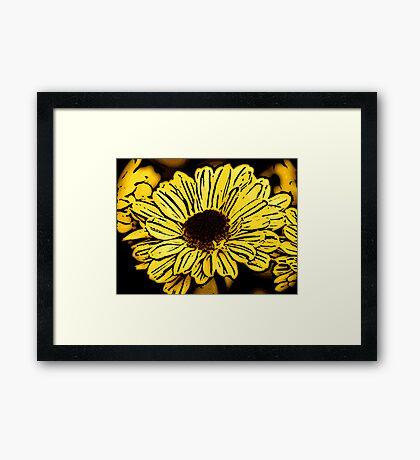 Sun Worshiper - Woodcut Framed Print