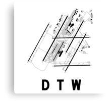 Detroit Airport Diagram Canvas Print