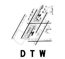 Detroit Airport Diagram Photographic Print