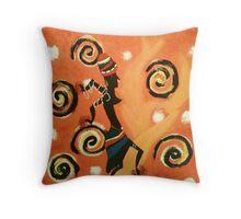 African Dancer Throw Pillow