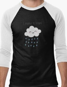 I Make It Rain Cute Storm Cloud Men's Baseball ¾ T-Shirt