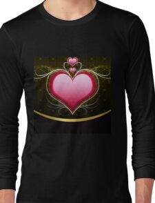 Pink heart and floral 3 Long Sleeve T-Shirt