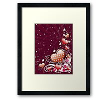 Pink heart and floral 5 Framed Print