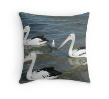 Oi you . this ways north  Throw Pillow