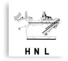 Honolulu Airport Diagram Canvas Print
