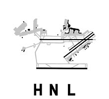 Honolulu Airport Diagram Photographic Print