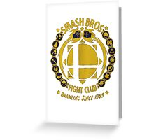 Super Smash Bros. Fight Club Greeting Card