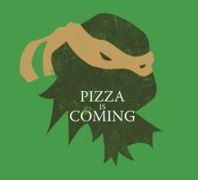 Pizza is Coming (Turtle Green Version) Kids Clothes