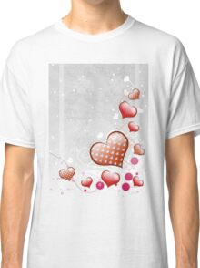 Pink heart and floral 7 Classic T-Shirt