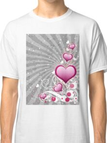 Pink heart and floral 8 Classic T-Shirt