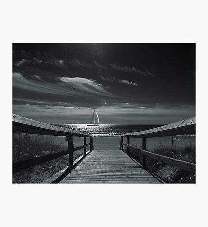 Moonlight Sail Photographic Print