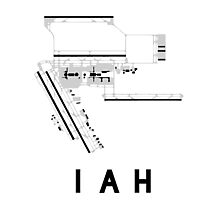 Houston Airport Diagram Photographic Print