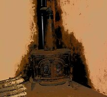 Comic Abstract Wood Burning Stove by steelwidow