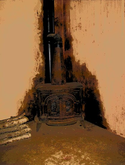 Comic Abstract Wood Burning Stove