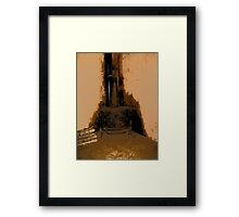 Comic Abstract Wood Burning Stove Framed Print