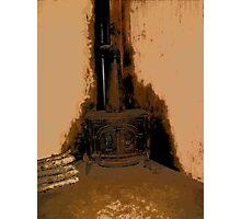 Comic Abstract Wood Burning Stove Photographic Print