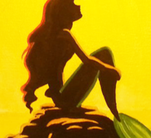 Ariel & the Moon - the Little Mermaid Sticker