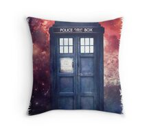Police Blue Box Tee The Doctor T-Shirt Throw Pillow