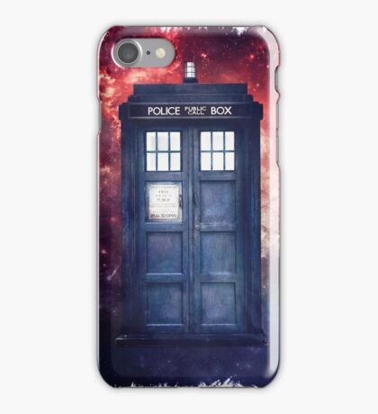 Police Blue Box Tee The Doctor T-Shirt iPhone Case/Skin