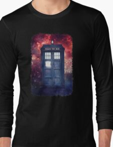 Police Blue Box Tee The Doctor T-Shirt Long Sleeve T-Shirt