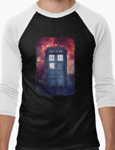 Police Blue Box Tee The Doctor T-Shirt Men's Baseball ¾ T-Shirt