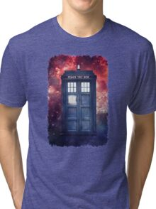Police Blue Box Tee The Doctor T-Shirt Tri-blend T-Shirt