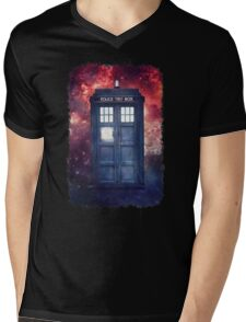 Police Blue Box Tee The Doctor T-Shirt Mens V-Neck T-Shirt