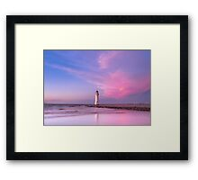 New Brighton Lighthouse at Sunset Framed Print