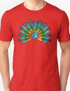 Blue and Green Peacock Unisex T-Shirt