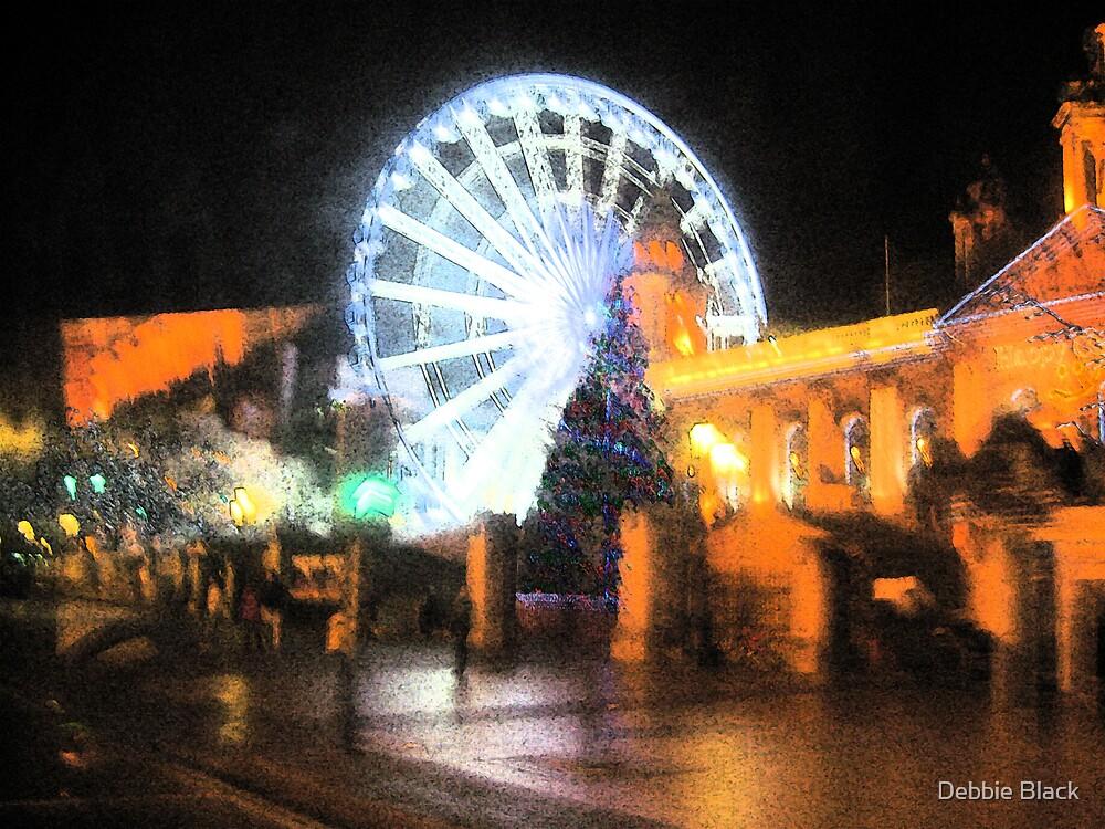 Belfast Eye at Christmas by Debbie Black