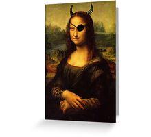 a bit less classy mona lisa Greeting Card