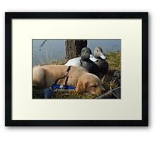 "Resting before ""The Hunt"" Framed Print"