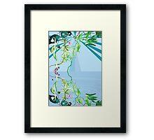 floral ornaments secret waters Framed Print